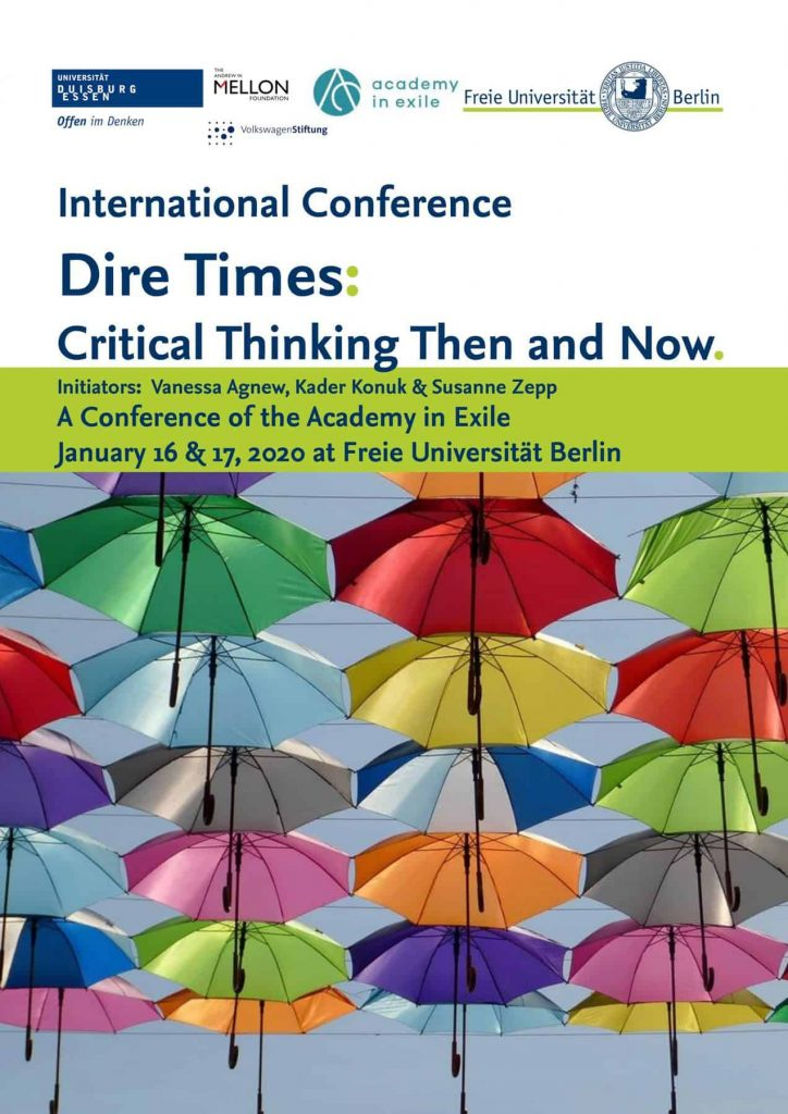 Conference Poster, © Academy in Exile